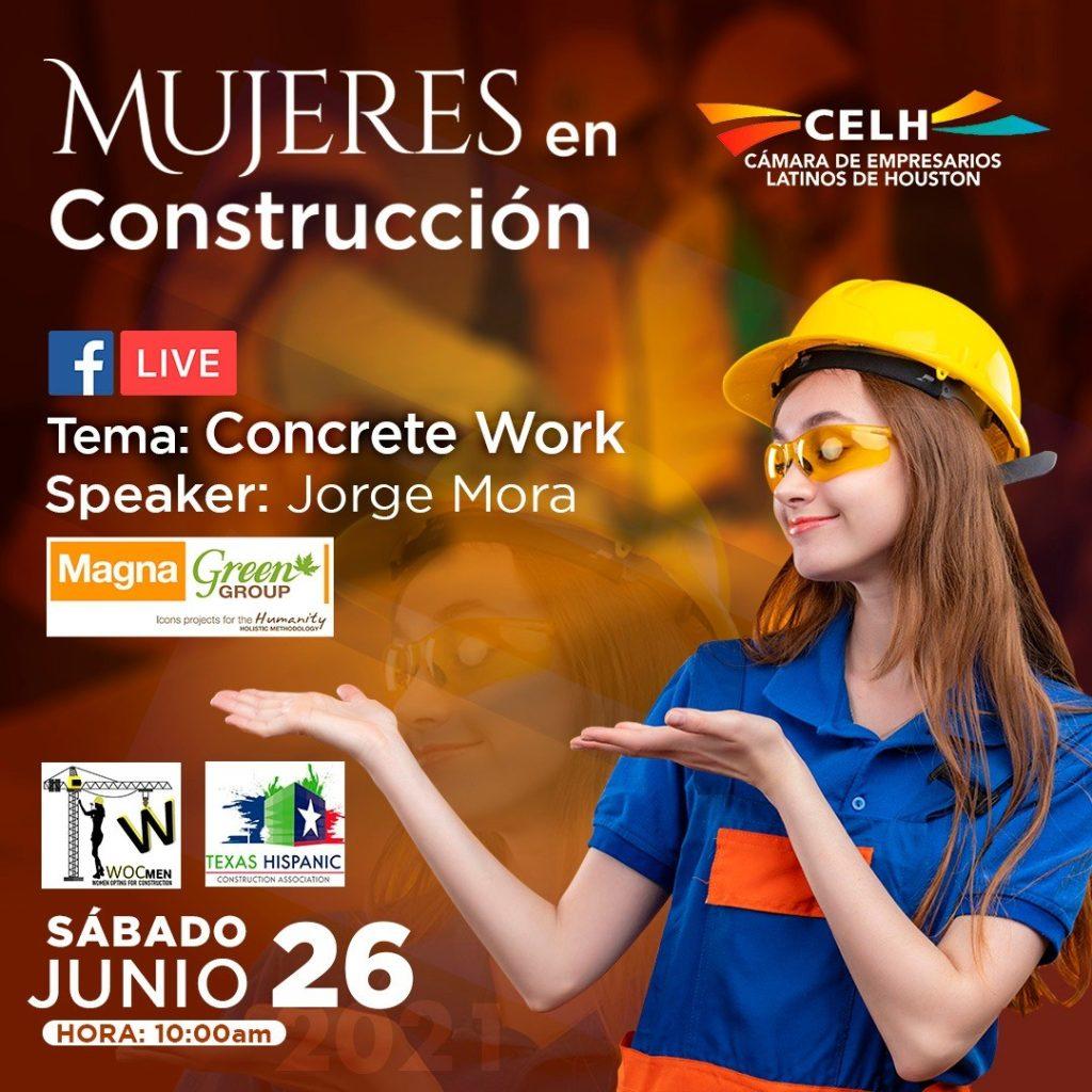 mujeres en construccion concreto